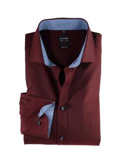 Olymp Overhemd Level 5 Body Fit Bordeaux Rood (0531 64 39N)
