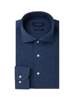 Profuomo Overhemd The Knitted Shirt Jeans Blauw Melange (PP0H0A045)N