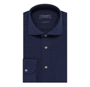 Profuomo Overhemd The Knitted Shirt Navy Melange (PP0H0A048)