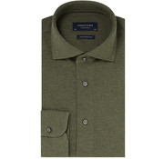 Profuomo Overhemd The Knitted Shirt Army Groen Melange (PP0H0A051)