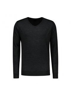 Dstrezzed Pullover V-hals Merino Zwart (404130 - 999)