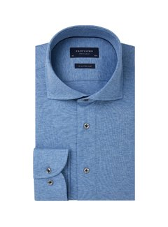 Profuomo Overhemd Single Jersey Knitted Blauw (PP0H0A057)