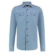 Kultivate Jeans Overhemd Blauw (1901030001 - 300)