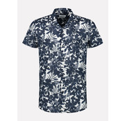 Dstrezzed Overhemd Korte Mouw Print Wit (311210 - 100)
