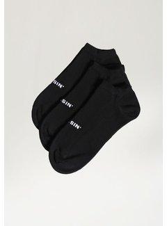 CHASIN' Ankle 2.0 3P Socks Zwart (9S00.336.009 - E90)