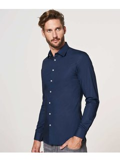 Profuomo Overhemd Super Slim Fit Stretch Navy (PP0H0A103)N