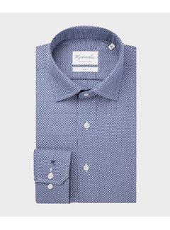 Michaelis Overhemd Slim Fit Print Blauw (PMRH100056)