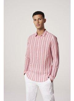 Dstrezzed Overhemd Crinkle Stripe Rood (303240 - 428)