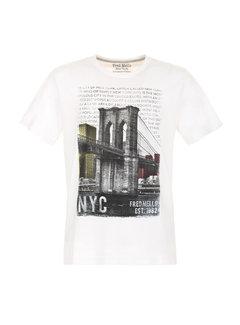 Fred Mello T-shirt Wit (FM20S31TG - White)