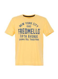 Fred Mello T-shirt Geel (FM20S01TG - Sun)