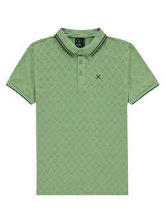 Kultivate Polo Graphic Leaf Groen (1901010403 - 441)