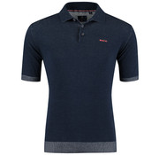 New Zealand Auckland Polo Korte Mouw Hakanoa Navy Blauw (19AN140 - 277)