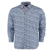 New Zealand Auckland Overhemd Matakohe Blauw (20BN561 - 260)