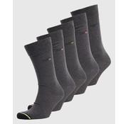 Superdry Sokken 5-Pack Antraciet/Grijs (M3100001A - 00Q)