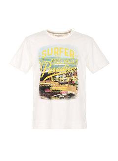 Fred Mello T-shirt Wit (FM20S18TG - Off White)