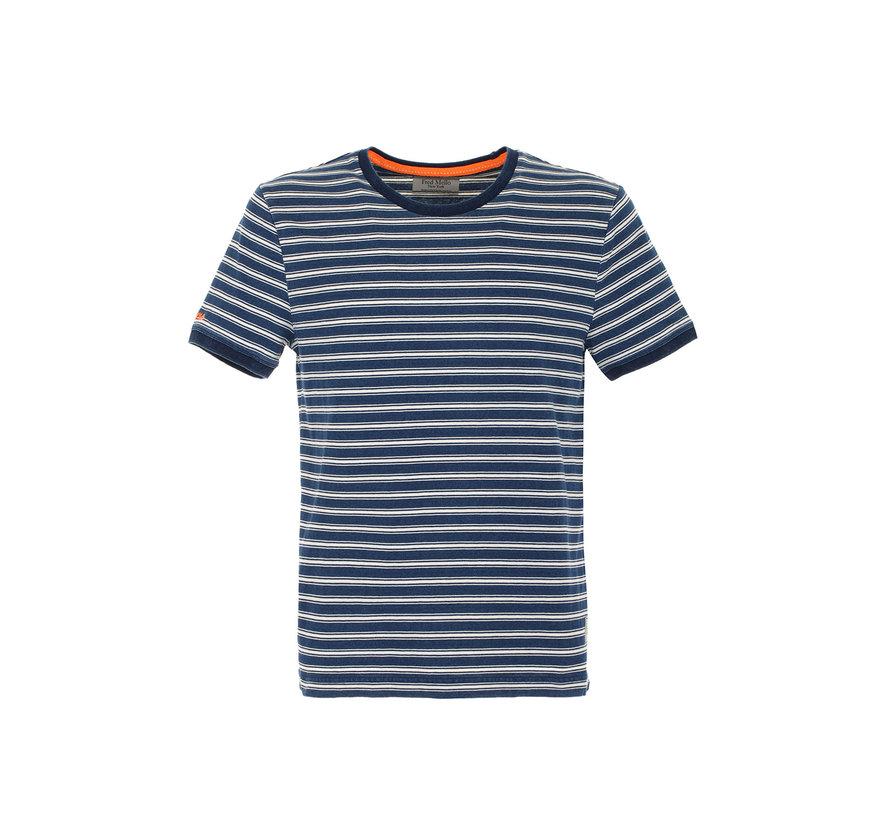 T-shirt Blauw Streep (FM20S29TG - Indigo)