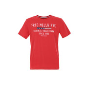 Fred Mello T-shirt Rood (FM20S03TG - Red)