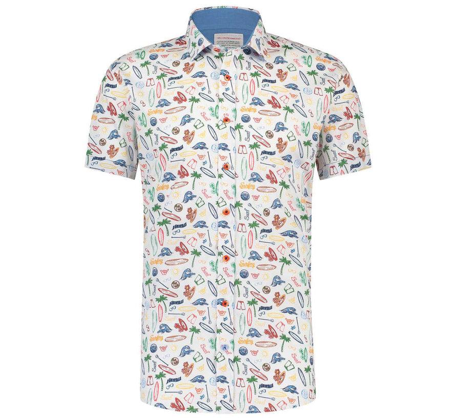 Korte Mouw Overhemd Surf Wit (91.04.073)