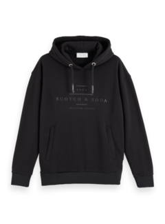 Scotch & Soda Hooded Sweater Zwart (156782 - 0008)
