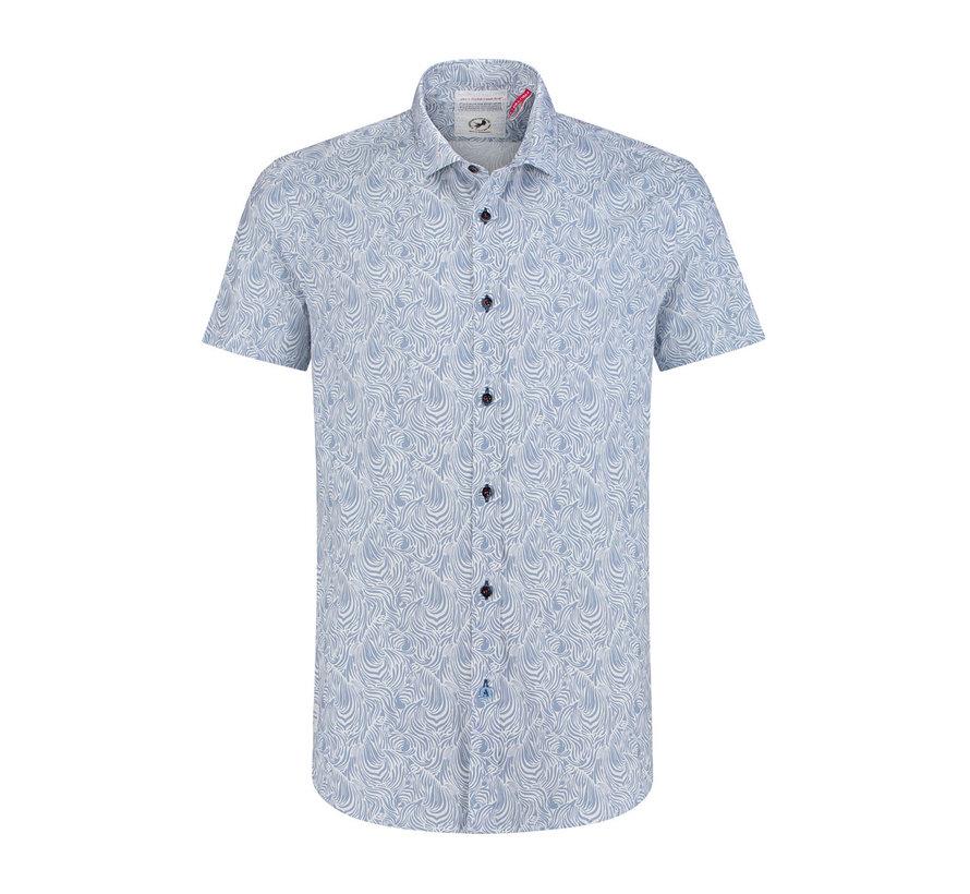 Korte Mouw Overhemd Blauw (91.03.071)
