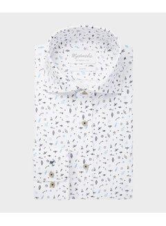 Michaelis Michaelis Overhemd Print Wit (PMRH100014)