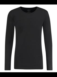 Kultivate T-shirt Lange Mouw Ronde Hals Zwart (9901000600 - 100 - Zwart)