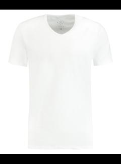 Kultivate T-shirt V-Hals Rodi Wit (9901000206 - 200 - White)