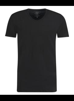Kultivate T-shirt V-Hals Rodi Zwart (9901000206 - 100 - Zwart)