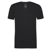 Kultivate T-shirt V-Hals Ric Zwart (9901000204 - 100 - Black)