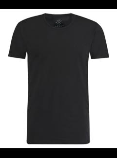 Kultivate T-shirt Ronde Hals Extra Lang Ravi Zwart (9901000202 - 100 - Black)