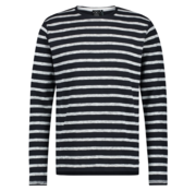 Kultivate Trui Winter Stripes Navy Blauw (1901040603 - 319 - Dark Navy)