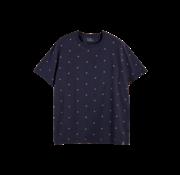 Scotch & Soda T-shirt Ronde Hals Print Navy (159387 - 0221)