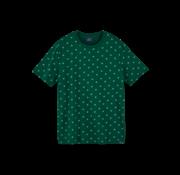 Scotch & Soda T-shirt Ronde Hals Print Groen (159387 - 0222)