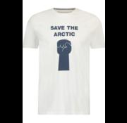 Haze&Finn T-shirt Ronde Hals Wit (MA13-0013-White Fist)