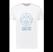 Haze&Finn T-shirt Ronde Hals Wit (MA13-0013-White LightBlue House)