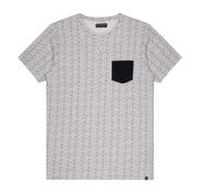 Dstrezzed T-shirt Ronde Hals Print Wit (251022D - 100)