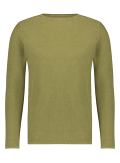 Kultivate Pullover KN Melvin Washed Groen (1801010802 - 166)