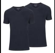 Slater Basic Fit 2Pack T-shirt V-hals Navy (7610)
