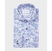 Michaelis Overhemd Slim Fit Print Blauw (PMRH100023)N
