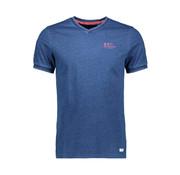 New Zealand Auckland T-shirt V-Hals Pahau Indigo Blauw (20BN732 - 396)