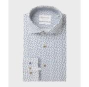 Michaelis Overhemd Slim Fit Extra Mouwlengte Print Blauw (PMRH100051)