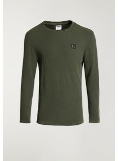 CHASIN' Trui BASAL WASHED Army Groen (3111.337.006 - E50)