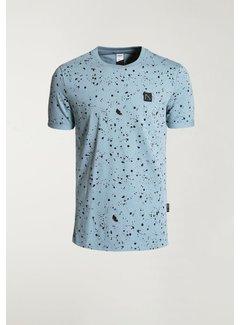 CHASIN' T-shirt Ronde Hals LEO Blauw (5211.400.138 - E64)