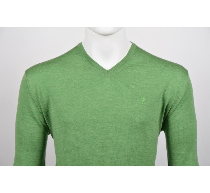 Pullover V-Hals Groen (215300 - 54)