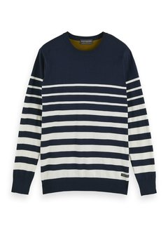 Scotch & Soda Pullover Navy Streep (158599 - 0217)