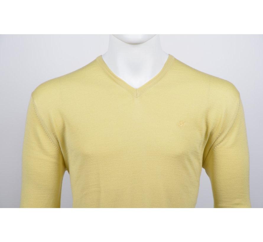 Pullover V-Hals Licht Geel (215300 - 62)