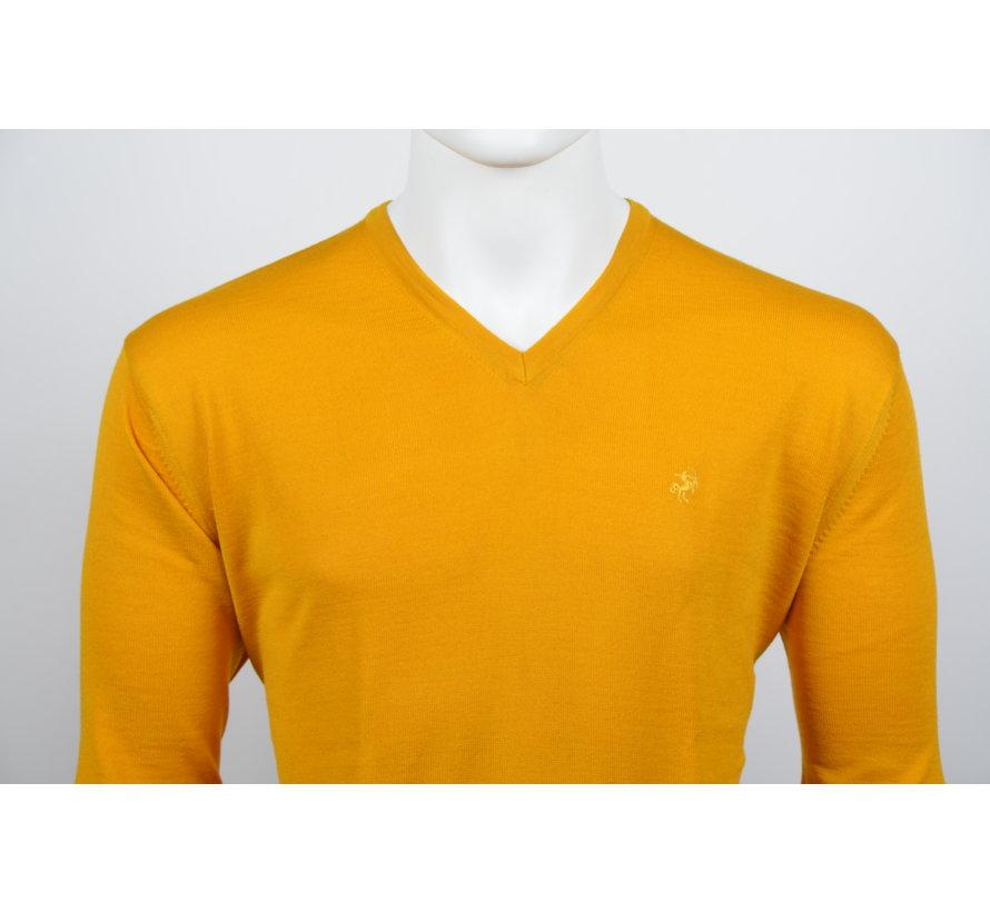 Pullover V-Hals Oker Geel (215300 - 64)