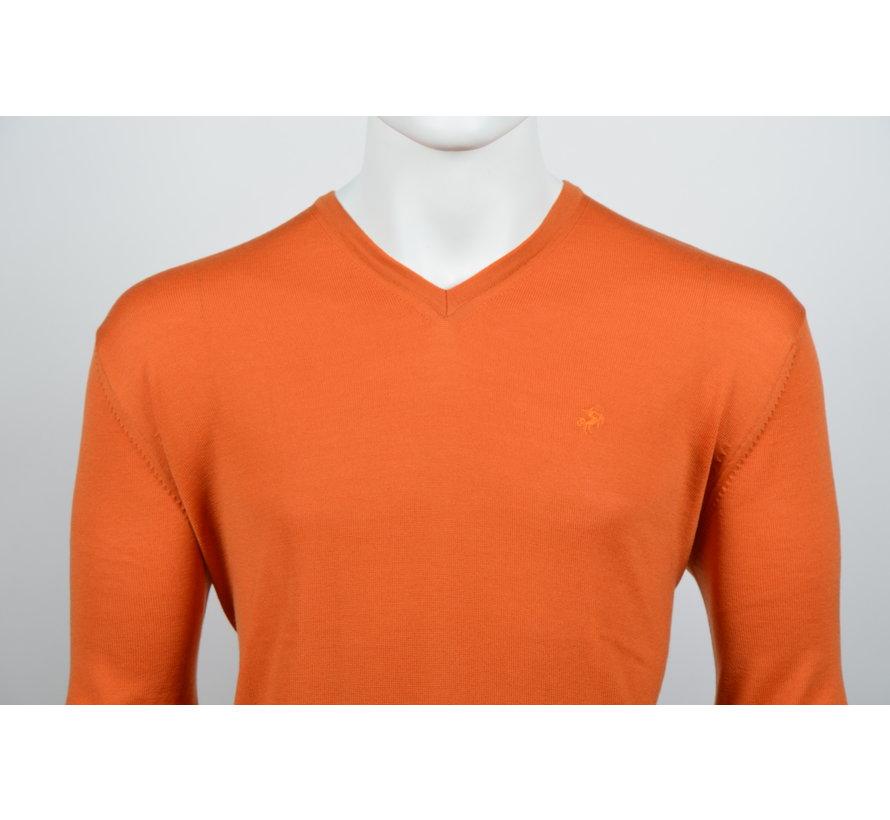 Pullover V-Hals Oranje (215300 - 95)