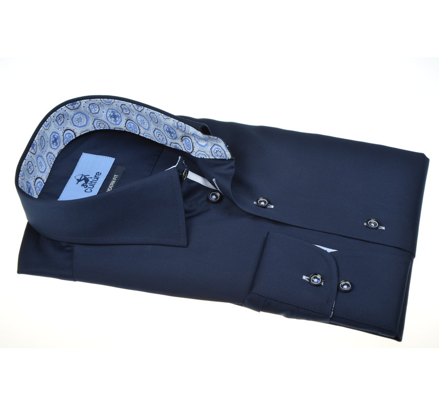 Overhemd Navy Blauw (215323 - 38)