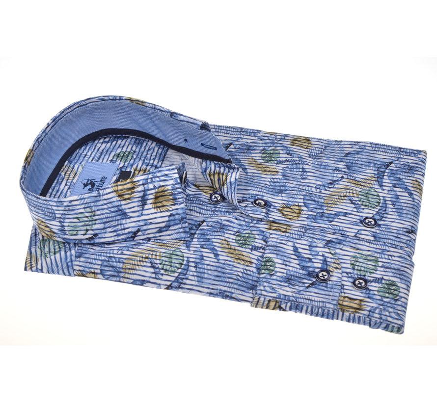 Overhemd Modern Fit Print Blauw (215165 - 53)